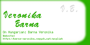 veronika barna business card